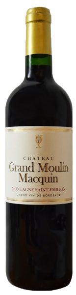 Rødvin: Château Grand Moulin Macquin 2016, Montagne Saint-Emilion