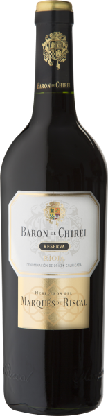 Rødvin: Baron de Chirel, Reserva 2015, Heredos del Marqués de Riscal, Rioja