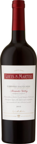 Rødvin: Louis M. Martini, Cabernet Sauvignon 2015, Alexander Valley, Sonoma County