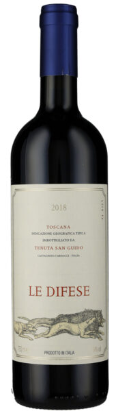 Rødvin: Le Difese 2018, Tenuta San Guido, Toscana